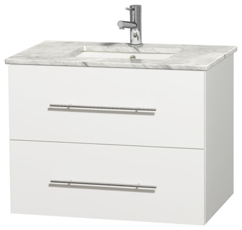 Shop houzz wyndham collection centra 30 single vanity - Contemporary bathroom vanities without tops ...