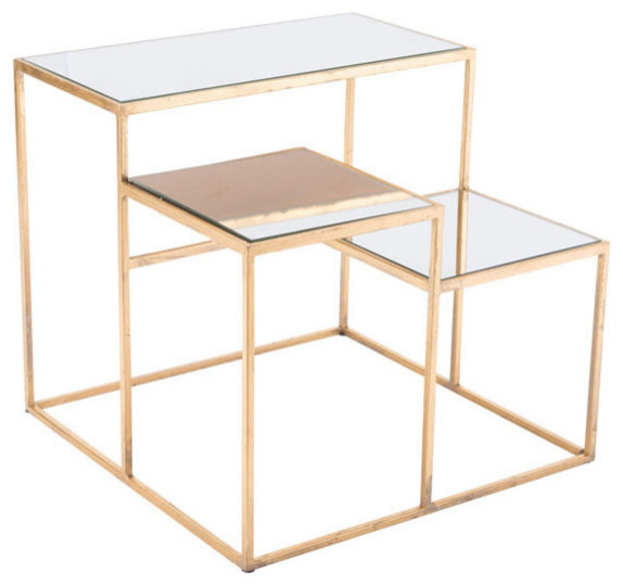 Labels End Table, Gold.