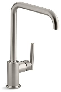 Kohler Purist Primary Swing Spout Kitchen Faucet Without Spray - Contemporary - Kitchen Faucets ...