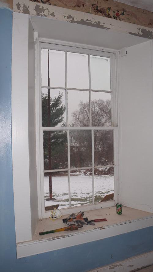 Window Trim In 1700 S Georgian Colonial In Pa