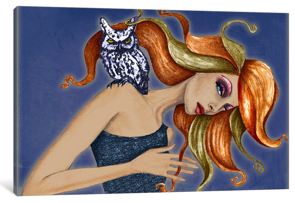 Owl I By Jami Goddess Canvas Print Rustic Prints And Posters By Icanvas