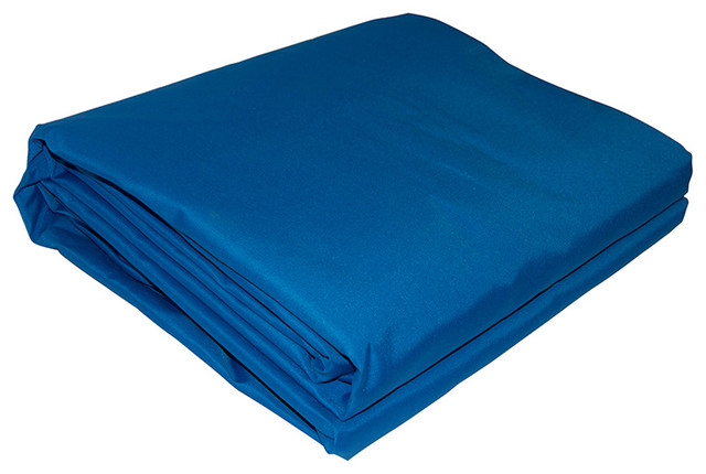 Aleko Rectangle Waterproof Sun Shade Sail, 13&x27;x10&x27;, Blue.
