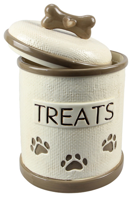 Ceramic Dog Treat Jar Contemporary Decorative Jars And