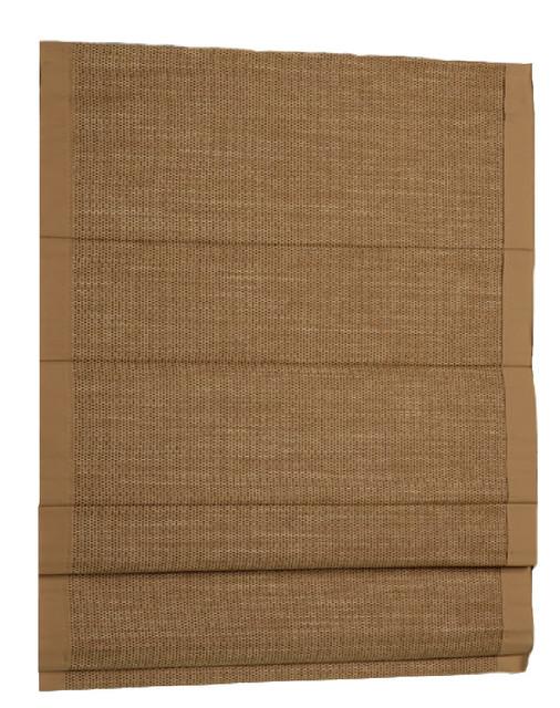hampton woven cane paper thermal backed cordless roman shade