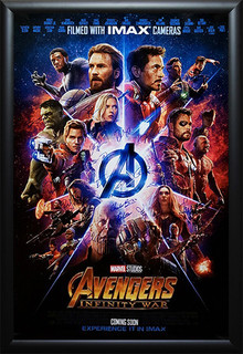 Framed Autographed Movie Poster Avengers Infinity War