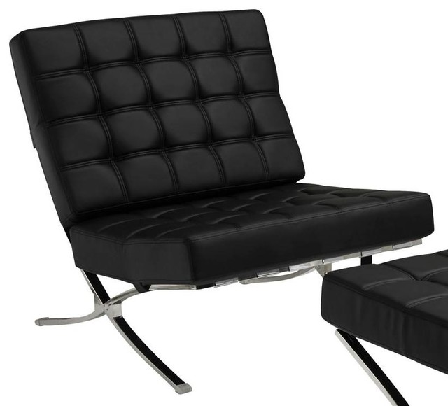 Waffle Accent Chair, Black.