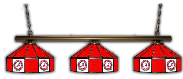 Alabama Crimson Tide 3 Shade Glass Lamp Craftsman Pool Table Lights