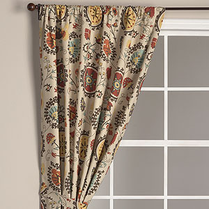 Suzani Print Curtain Panel Eclectic Curtains By Cost