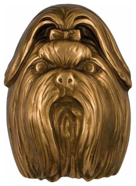 Michael healy shih tzu solid bronze door knocker contemporary door knockers by michael - Michael healy dragonfly door knocker ...