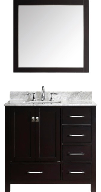 Addison Bathroom Vanity Set, Square Sink, Without Faucet, 36.