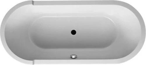 "Duravit 700010-C Starck 71"" Free Standing Acrylic Soaking Tub With Center White"