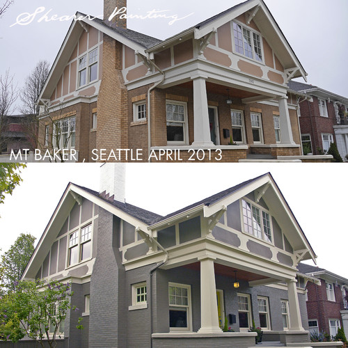 Painting Brick Before And After
