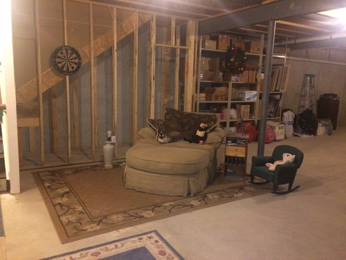 I have a few ideas for an eclectic industrial basement
