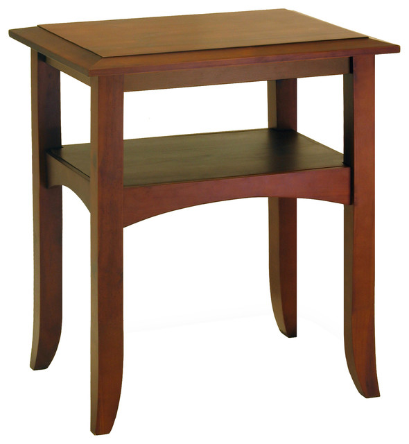 Craftsman End Table With Shelf.