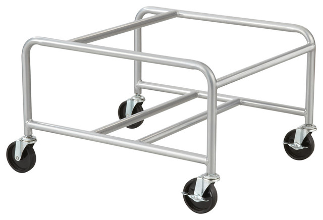 Safco Sled Base Stack Chair Cart, Silver-Sl.