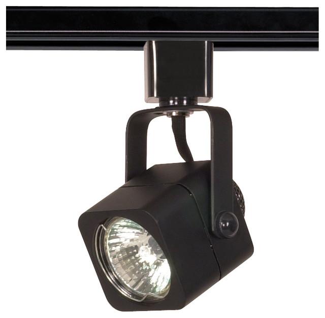 Pendant Track Lighting Heads: 1 Light MR16 120V Track Head Square