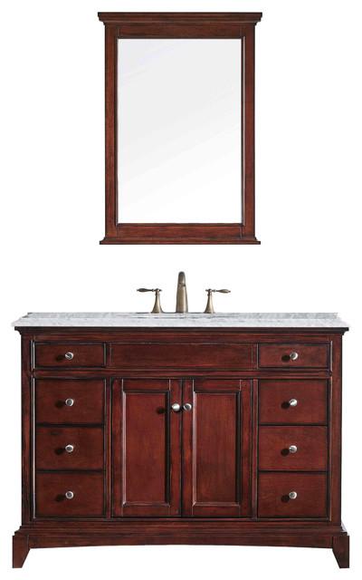 Eviva Elite Stamford 42″ Teak Bathroom Vanity w/ Double ...