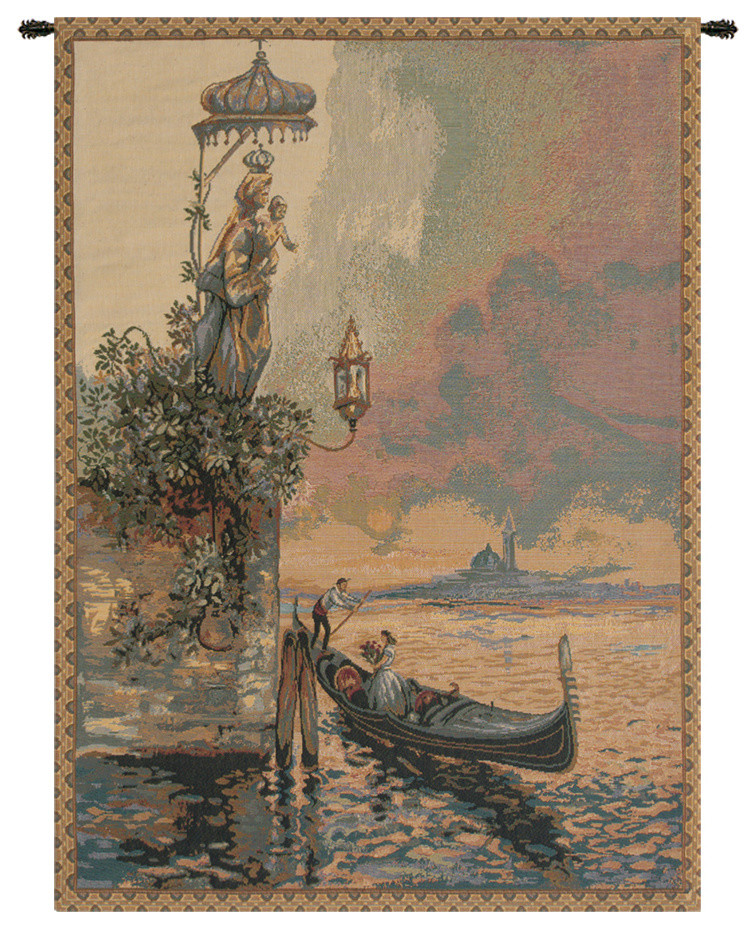 Gondola Italian Wall Hanging Tapestry Traditional Tapestries By European Wall Art