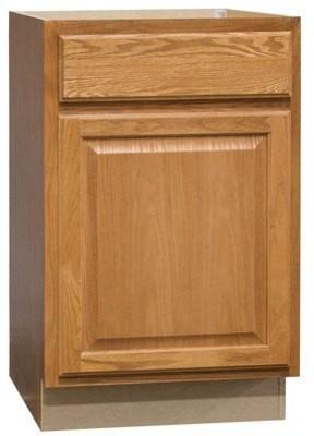 Rsi Home Products Hamilton Base Cabinet, Fully Assembled, Raised Panel, Oak, 21.