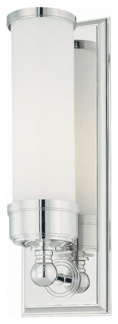 Bathroom 1-Light Wall Light, Polished Chrome