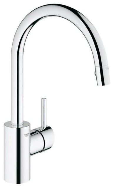 grohe concetto dual spray pulldown chrome faucets