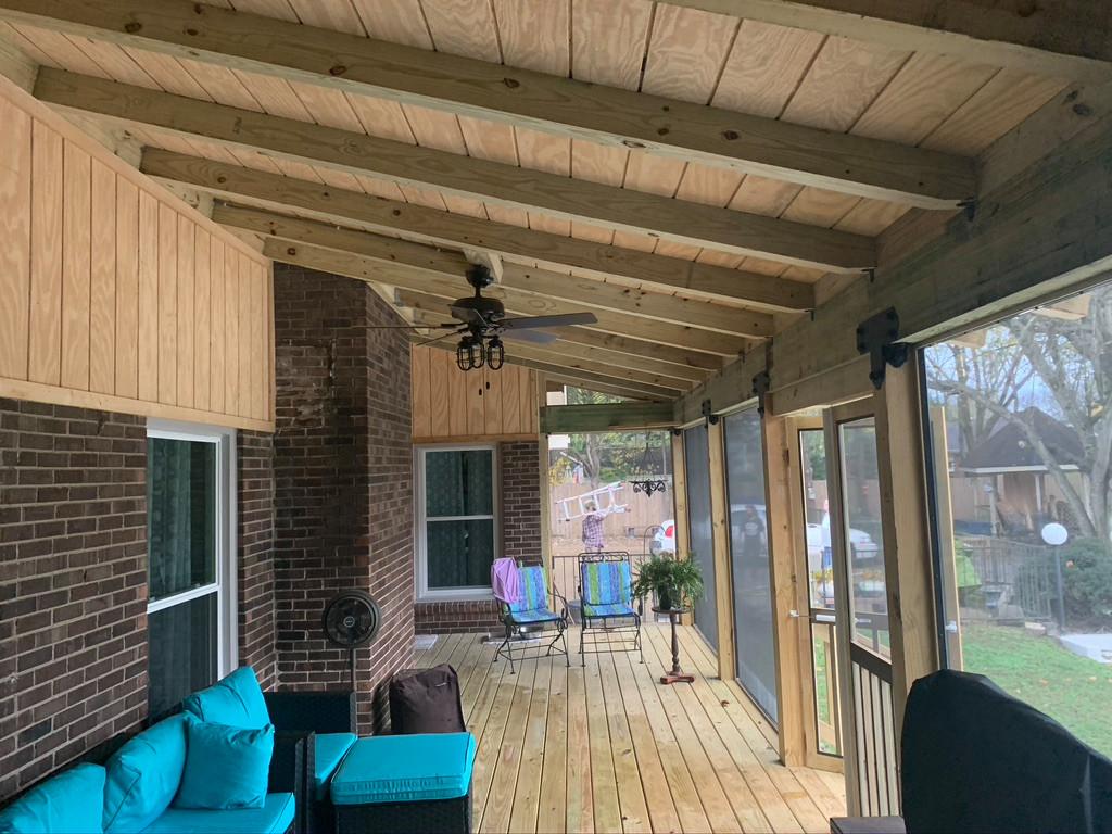 Custom Screened Deck- Backyard