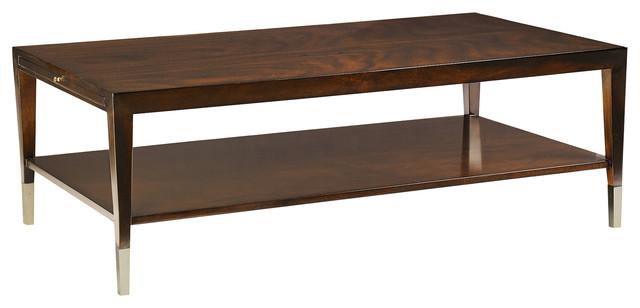 Leona Modern Clic Rectangular Mahogany Coffee Table