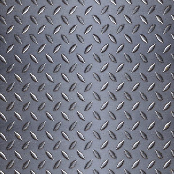 Diamond Plate Throw Large Industrial Wall And Floor Tile By