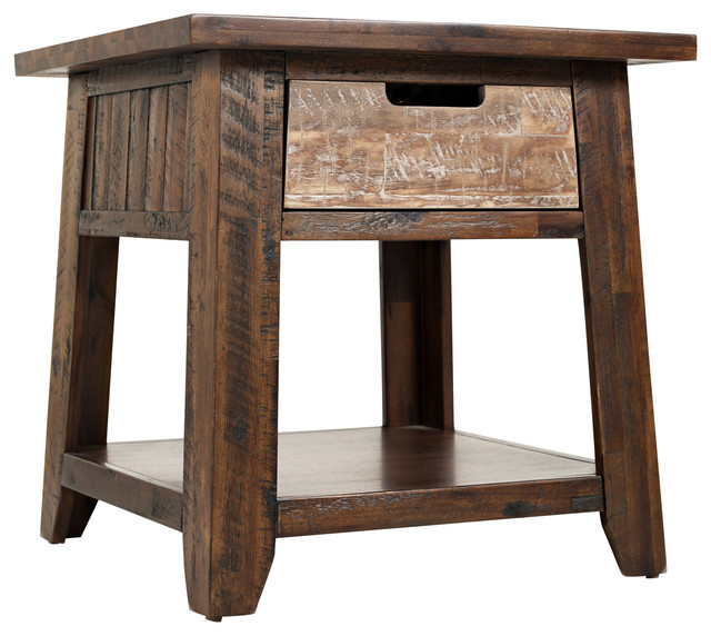 Painted Canyon End Table, Distressed.