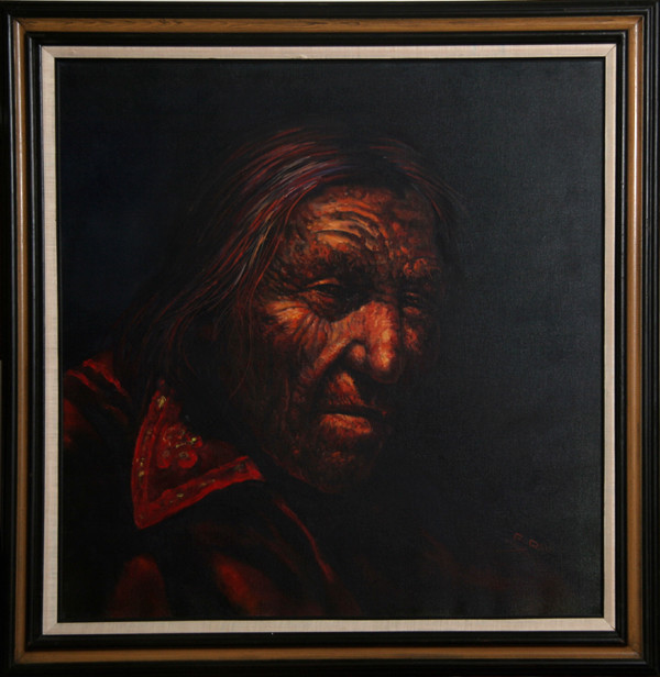 Jorge Braun Tarallo Portrait Of A Native American Man