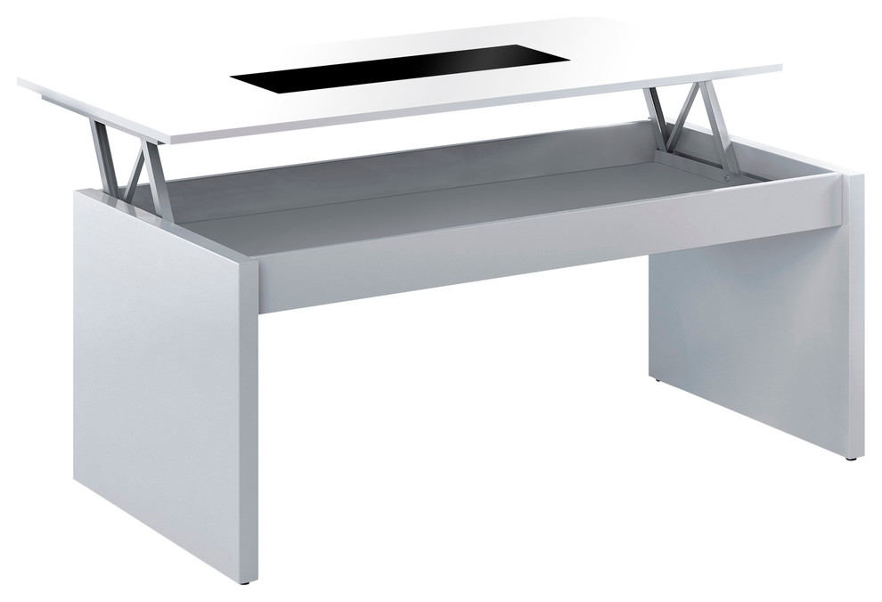 Cristal Coffee Table With Glass Lift Top - Contemporary ...