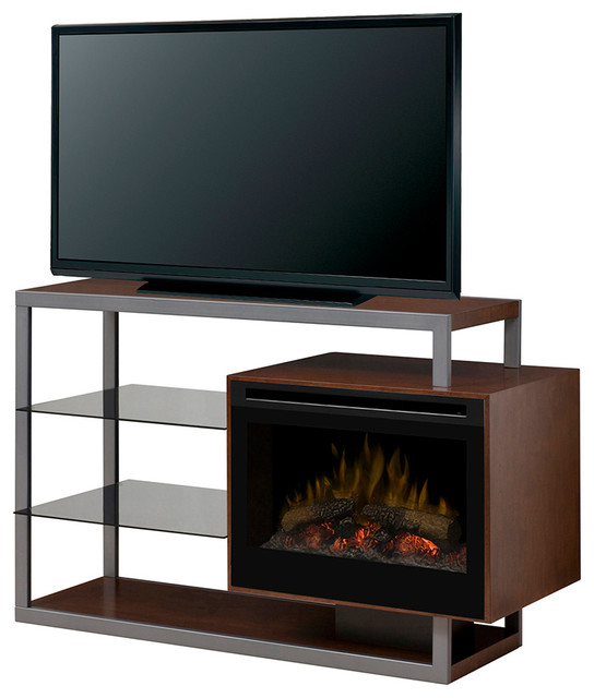 "Hadley Electric Fireplace Media Console, 25"" - Contemporary - Indoor Fireplaces - by ADDCO Electric Fireplaces"