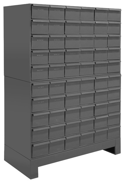Durham 60 Drawer Cabinet 11 Asy. Unit, Gray.