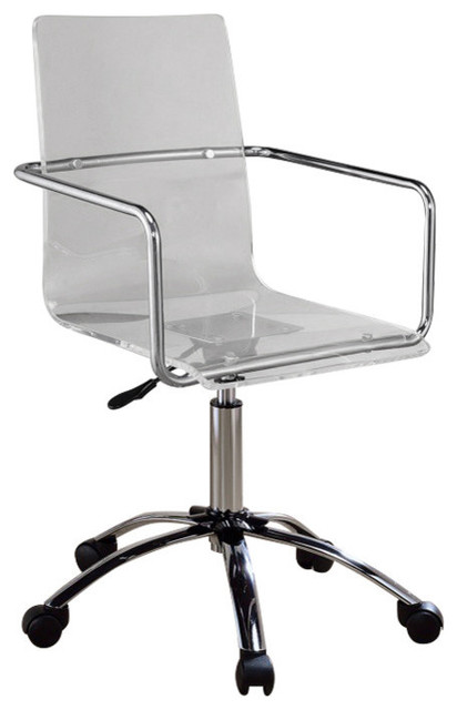 Fine Modern Design Transparent Acrylic Adjustable Office Chair Clear Alphanode Cool Chair Designs And Ideas Alphanodeonline