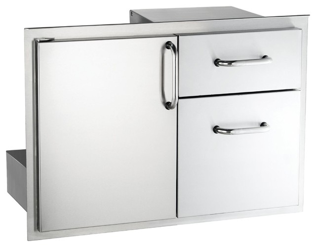 "Outdoor 30"" Access Door And Double Drawer Combo."