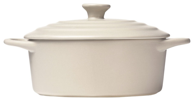 Oven Love Classic Casserole Dish With Lid, Beige, Small.