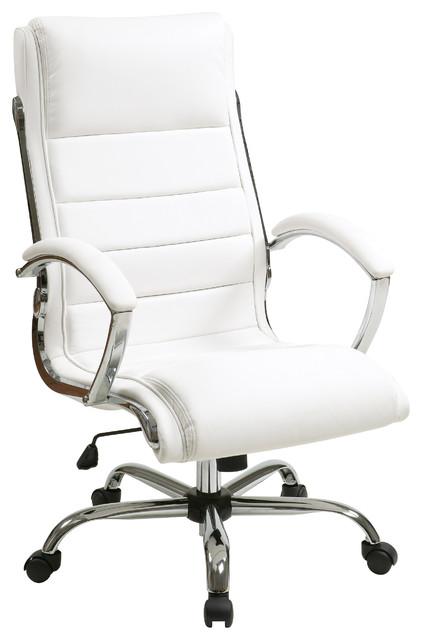 Pandora Faux Leather Executive Chair, White.