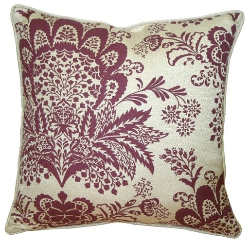 Rustic Floral Throw Pillow Decorative Pillows By