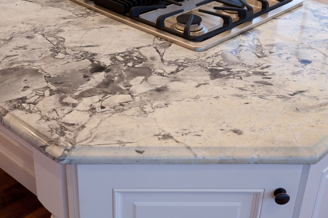 Super White Quartzite Countertops Traditional