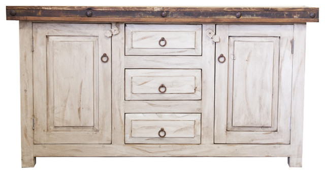 Bathroom Vanity Farmhouse white wash bathroom vanity - farmhouse - bathroom vanities and