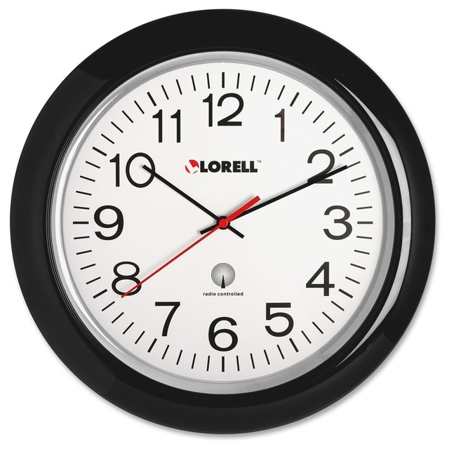 Lorell Radio Controlled Wall Clock, Digital, Quartz ...