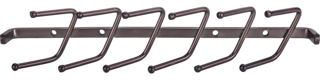 """11"""" Screw Mounted Tie Rack. Brushed Oil Rubbed Bronze."""