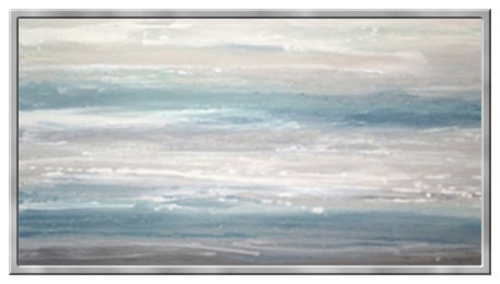 6c0536467dd Framed Abstract Blue Waves Painting - Beach Style - Paintings - by ...