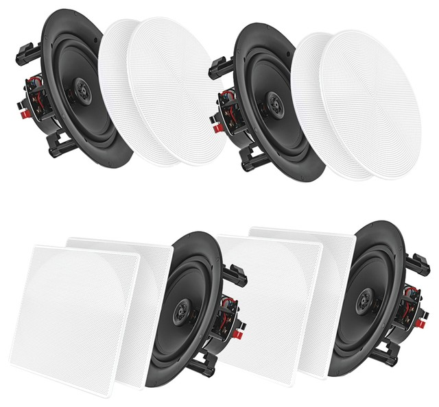 Pyle Pdicbt286 8 Bluetooth Ceiling/Wall Speakers, 4 Pack by Pyle