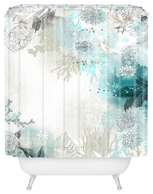 Iveta Abolina Seafoam Shower Curtain Contemporary