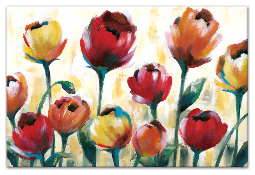 Red And Yellow Tulips Wall Art Contemporary Prints And Posters By Designs Direct Houzz