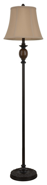 Bronze And Marble Floor Lamp.