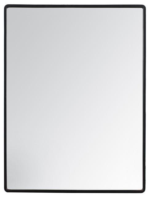 Salvo Rectangular Wall Mirror, Black, 45x60 cm