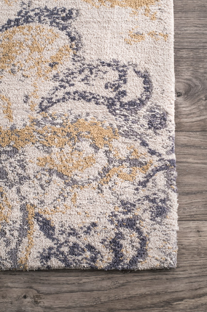 Paulettecountry and Floral, Contemporary Rug, 4'x6'