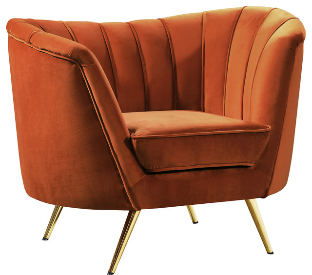 Margo Velvet Chair Contemporary Armchairs And Accent